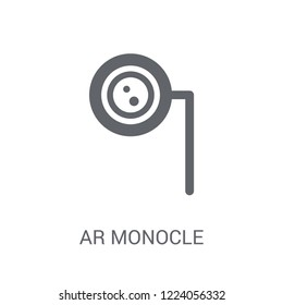 Ar monocle icon. Trendy Ar monocle logo concept on white background from Artificial Intelligence collection. Suitable for use on web apps, mobile apps and print media.