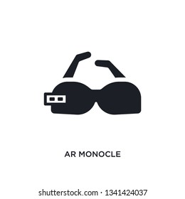 ar monocle isolated icon. simple element illustration from artificial intellegence concept icons. ar monocle editable logo sign symbol design on white background. can be use for web and mobile