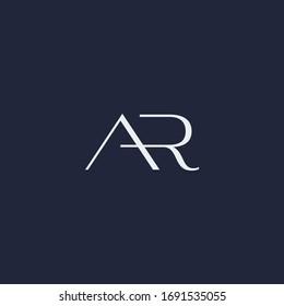 AR monogram fashion logo in monochrome