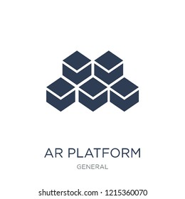 ar platform icon. Trendy flat vector ar platform icon on white background from general collection, vector illustration can be use for web and mobile, eps10