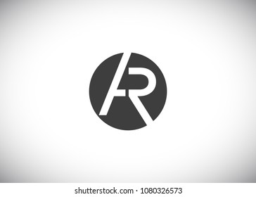 AR, RA Initial Logo designs with circle background