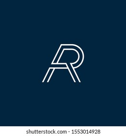 AR or RA letter designs for logo and icons
