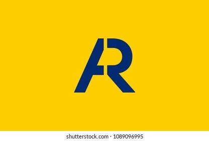 AR RA Letter Initial Logo Design Template