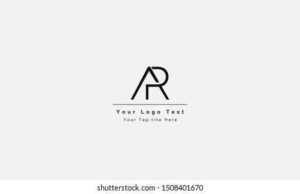AR or RA letter logo. Unique attractive creative modern initial AR RA A R initial based letter icon logo