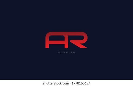 AR or RA letters Logo Alphabet  Design Vector Symbol