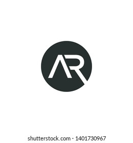 ar vector design ,abstract, sophisticated, ar logo design inspiration