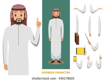 arab business character design