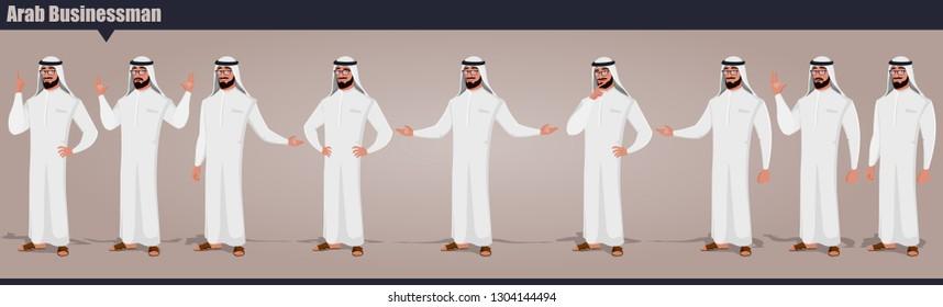 Arab Businessman character Pack