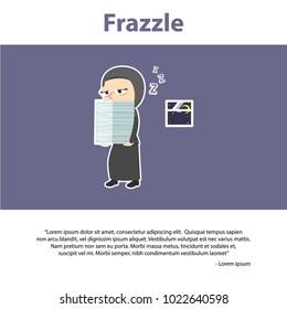 Arab Businesswoman Frazzle Infographic