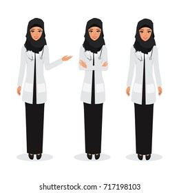arab doctor occupation friendly character health care hospital.