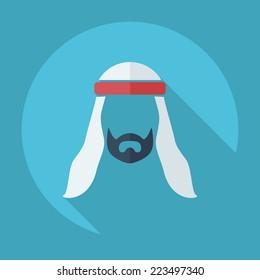Arab icon flat