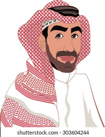 arab in a keffiyeh