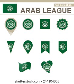 Arab League Flag Collection, 12 versions