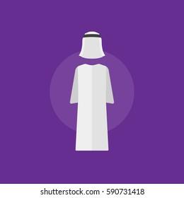 Arab man clothes. Arab man clothes vector illustration sign
