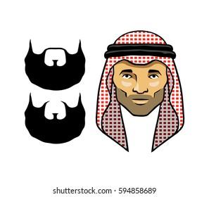 Arab Men's Head Red Scarves