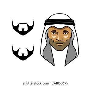 Arab Men's Head White Scarves