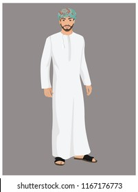 Arab Omani Male Character with poses