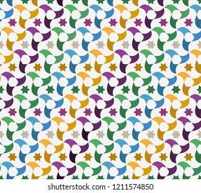 Arab tiles, mosaic, color background, movement design