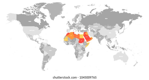 Syria country map images stock photos vectors shutterstock arab world states political map with higlighted 22 arabic speaking countries of the arab league gumiabroncs Images