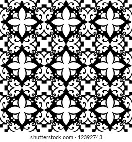 arabesque floral pattern