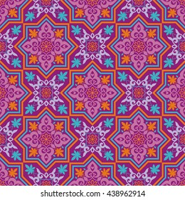 Arabesque. Pattern in Moorish style. Arab seamless texture. Element of design. Islamic  background.