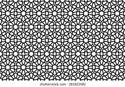Arabesque Seamless Black & White Pattern