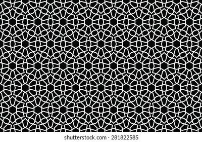 Arabesque Seamless Black & White Pattern