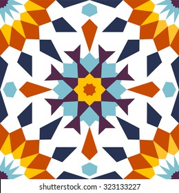 Arabesque seamless pattern, mashrabiya background, tile design, vector illustration