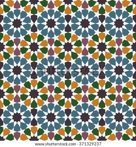 Arabesque Seamless Pattern Moroccan Style Mosaic Stock Vector Inspiration Moroccan Design Pattern