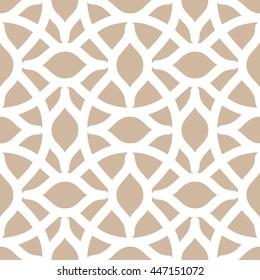 Arabesque trellis pattern seamless background tile