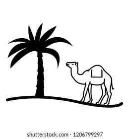 Arabian camel vector icon