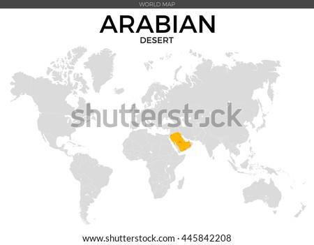Arabian Desert Location Modern Detailed Vector Stock Vector