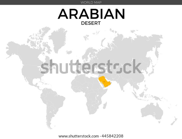 Arabian Desert Location Modern Detailed Vector Stock Image ...
