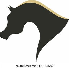 arabian horse head icon, logo