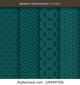 Arabian or Islamic traditional pattern sets. Eps come with layers.