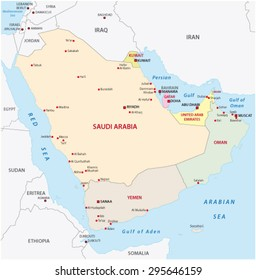 arabian peninsula map