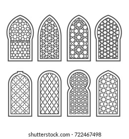 Arabian window with ornament - grating decorated with arabesque pattern