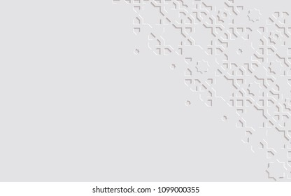 Arabic arabesque design greeting card for Ramadan Kareem.Islamic ornamental monochrome detail of mosaic.Background vector illustration.