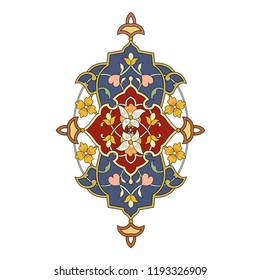 Arabic arabesque texture design greeting card for Ramadan Kareem. Islamic ornamental colorful detail of   mosaic illustration geometric