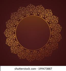 Arabic circular border - A badge with an empty space