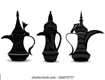 Arabic Coffee Pot - Dallah - Vector Illustration