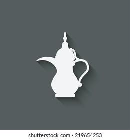 Arabic coffee pot - vector illustration. eps 10
