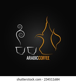 arabic coffee vintage design background