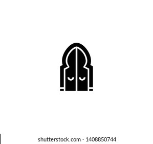Arabic door vector isolated illustration. icon
