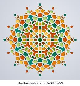 Arabic geometric pattern morocco circle ornament