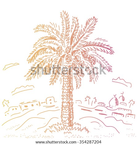 Datieren in Palmwüste