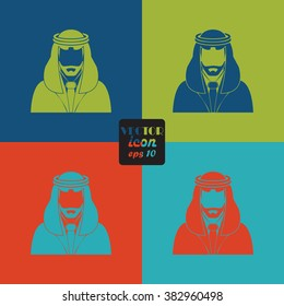 Arabic man avatar Icon