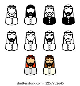 Arabic man icon
