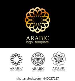 Arabic mandala. Round Ornament Pattern. Geometric logo template. Vector symbol for design.