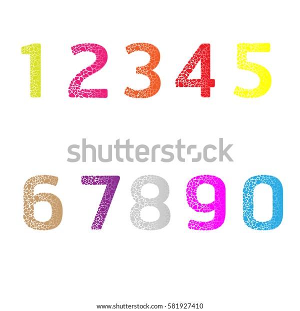 Arabic Number vector.